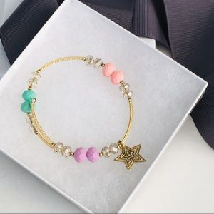 Jewelry - Gold Tone Beaded Bracelet